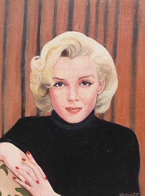 Portrait Of Marilyn Art Print by Barbara Barber