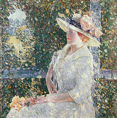Sit-ins Painting - Portrait Of Miss Weir by Childe Hassam
