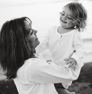 Portrait Of Mother And Daughter Art Print by Michelle Quance
