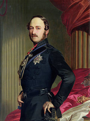 Military Uniform Painting - Portrait Of Prince Albert by Franz Xavier