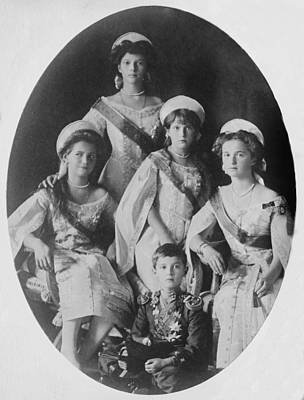 Tatiana Photograph - Portrait Of The Five Children Of Czar by Everett