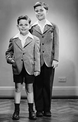 Portrait Of Two Boys Indoor Art Print by George Marks