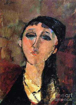 Portrait Of Young Girl  Louise Art Print by Pg Reproductions