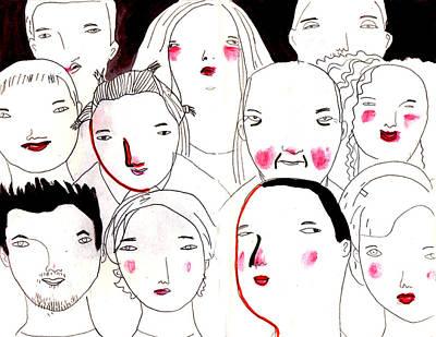 Looking At Camera Digital Art - Portraits Human Faces by Luciano Lozano