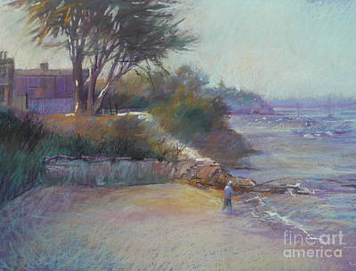 Portsea Evening Art Print by Pamela Pretty