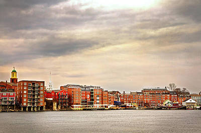 Photograph - Portsmouth From Badger Island by Robert Clifford