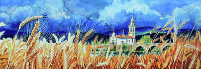 Artist Direct Order Painting - Portugal Countryside by Hanne Lore Koehler
