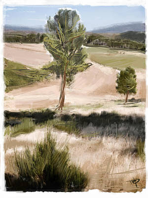 Mixed Media - Portugal Landscape by Russell Pierce