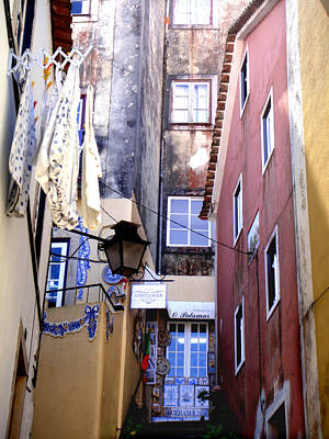 Portuguese Alley Art Print by Roberto Alamino