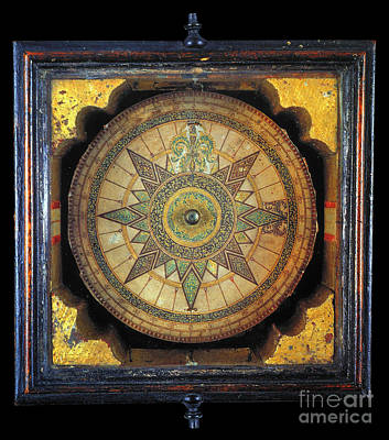 Photograph - Portuguese Compass, 1711 by Granger