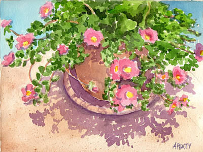 Painting - Portulacas by Audrey Peaty