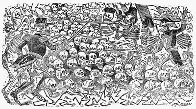 Posada: Skeletons, 1911 Art Print by Granger