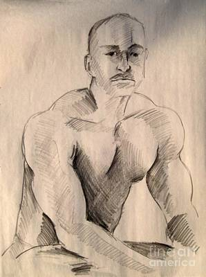 Drawing - Pose 2 by Robert D McBain