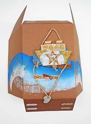 Cardboard Mixed Media - Poseidon by Charles Stuart