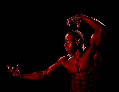 Blackrussianstudio Photograph - Posing Red Man by Val Black Russian Tourchin