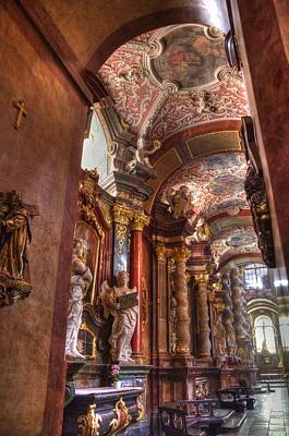 Butting Heads Photograph - Posnan - St Stanislaus Church by Jon Berghoff