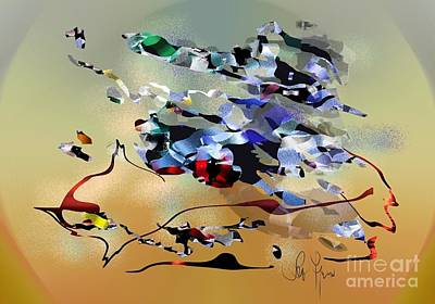 Art Print featuring the digital art Possibilities by Leo Symon