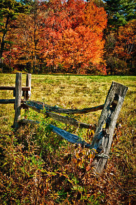 Photograph - Post And Fence by Fred LeBlanc