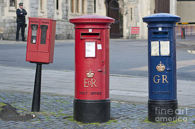 Street Er Photograph - Post Boxes  by Andrew  Michael