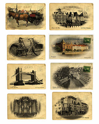 Post Cards From Europe 2 Print by Cecil Fuselier
