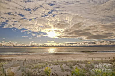 Art Print featuring the photograph Post-tourist Sunrise Ocean City by Jim Moore