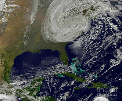 Post Tropical Storm Sandy Rolling Art Print by Stocktrek Images