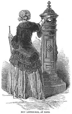 Postal Services, 1850 Art Print