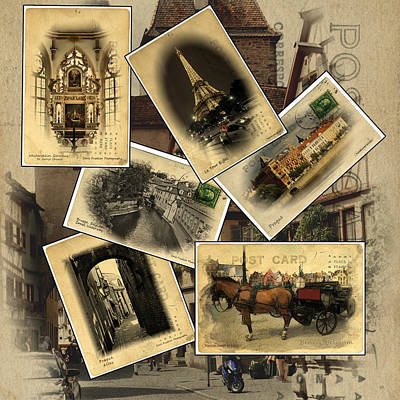 Postcards From Europe Art Print by Cecil Fuselier
