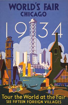 Poster For The 1934 Chicago Worlds Fair Print by Everett