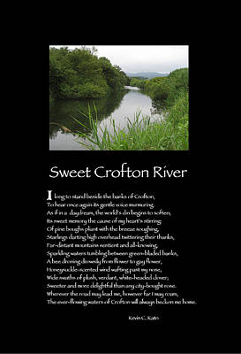 Poster Poem - Sweet Crofton River Art Print by Poetic Expressions