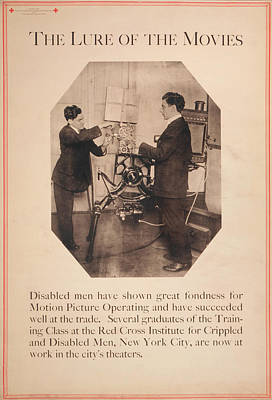 Poster Showing Disabled Man Working Art Print by Everett