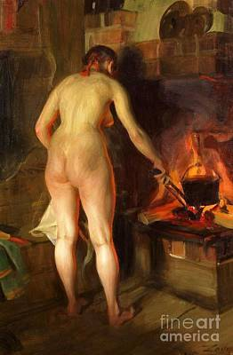 Cauldron Painting - Potatis Kitteln by Pg Reproductions