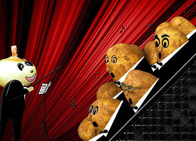 Photograph - Potato Choir by Trudy Wilkerson