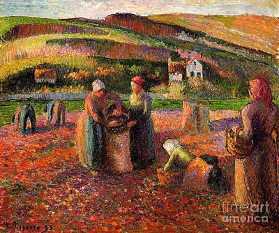 Painting - Potato Harvest by Pg Reproductions
