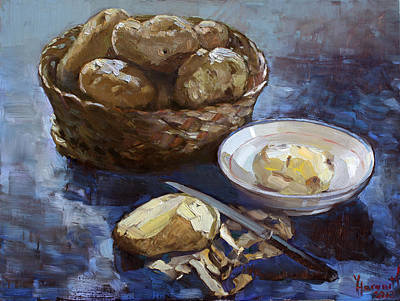 Potato Painting - Potatoes by Ylli Haruni