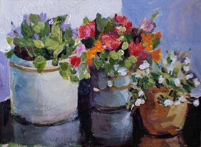 Painting - Pots And Plants by Diane Ursin