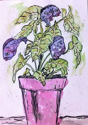 Painting - Potted Fish by Norma Gafford