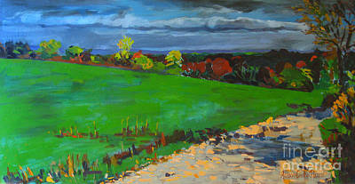 Grafton Ma Painting - Potter Hill Meadows by Allison Coelho Picone