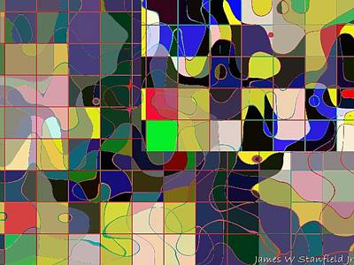 Potter In Abstract Informel Style Art Print by James Stanfield