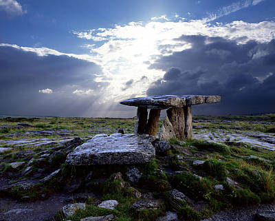 Portal Photograph - Poulnabrone Dolmen, County Clare by Chris Hill