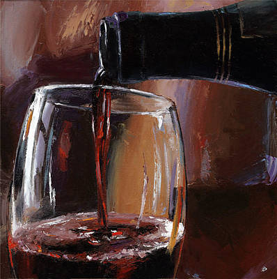 Nappa Valley Painting - Pouring Wine 18 by Victor Bauer