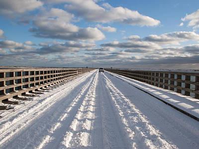 Photograph - Powder Point Bridge Duxbury by Susan OBrien