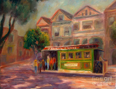 Painting - Powell And Hyde by Carolyn Jarvis