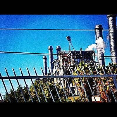 Steam Wall Art - Photograph - #power #cleanenergy #steam #sky by Nichole Zellmer