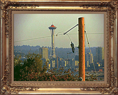 power Poles as Art - 6 Art Print by Larry Mulvehill