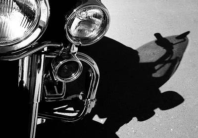 Power Shadow - Harley Davidson Road King Art Print by Steven Milner