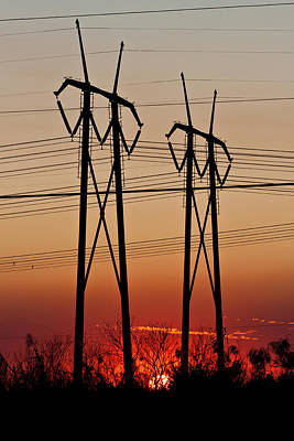 Photograph - Power Towers At Sundown by Ed Gleichman