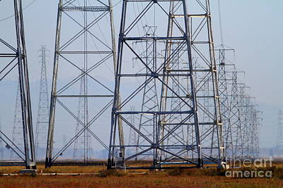 Power Transmission Towers . 7d8802 Art Print by Wingsdomain Art and Photography