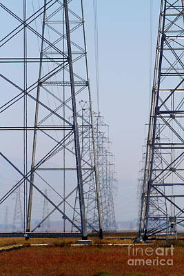 Power Transmission Towers . 7d8804 Art Print by Wingsdomain Art and Photography