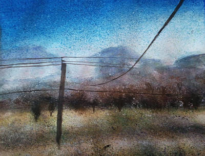 Powerlines Painting - Powerlines by Anji Smith